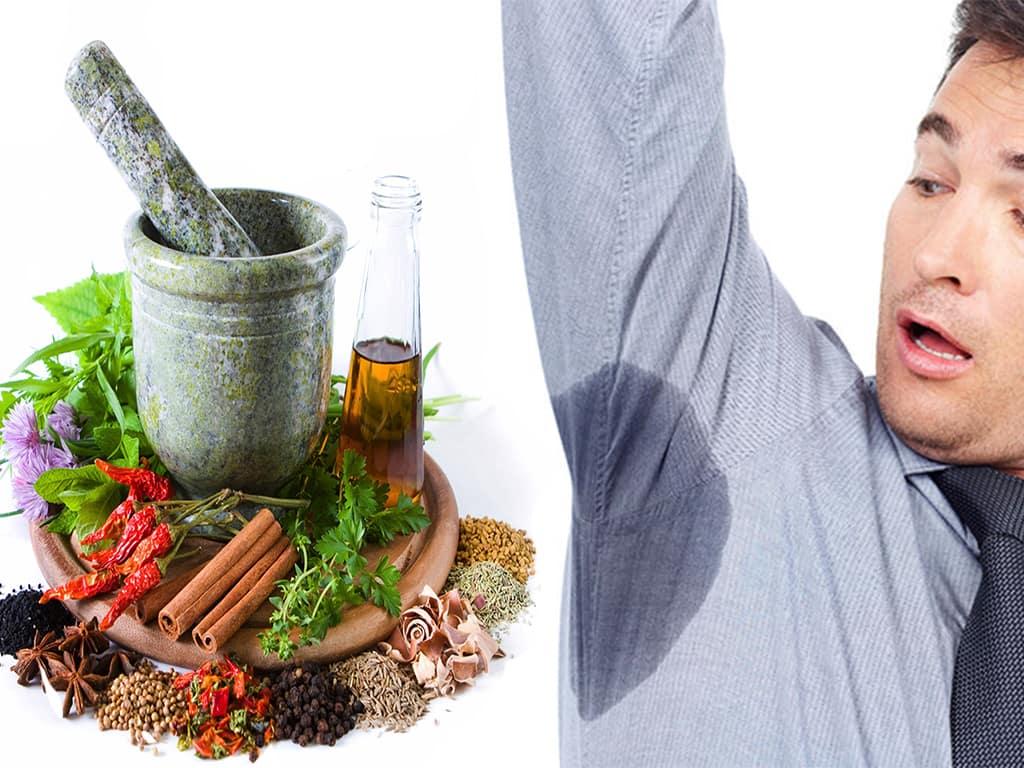 از نگاه طب سنتی مصرف برخی از خوراکیها، برای درمان عرق کردن زیاد بدن، میتواند مؤثر باشد