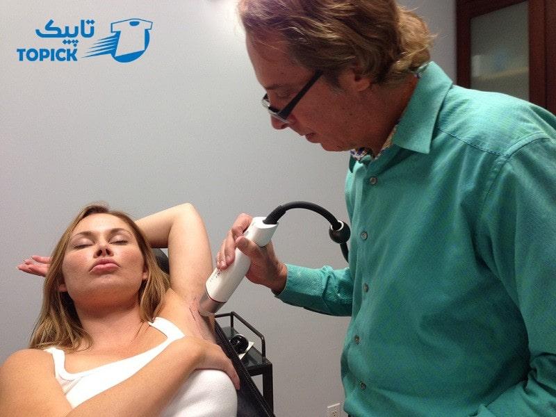 لیزر درمانی برای عرق زیر بغل