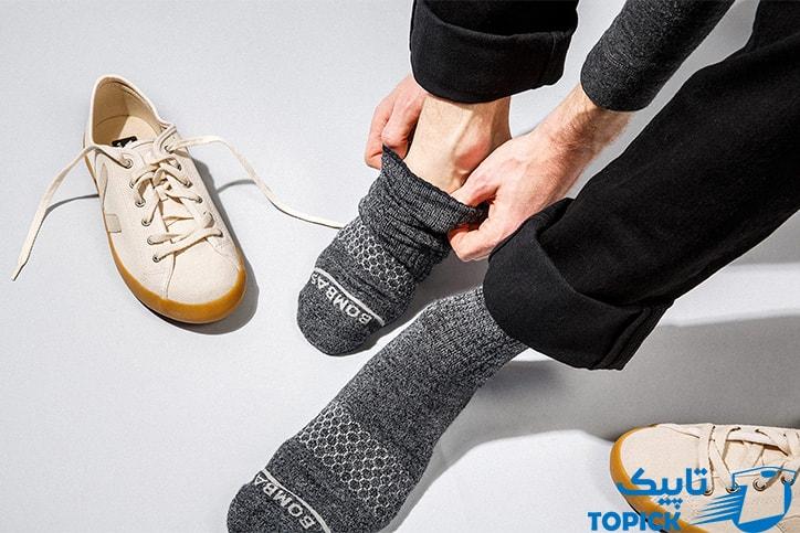 تعویض جوراب برای مدیریت تعریق