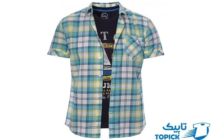 توجه به مدل پیراهن روی تیشرت