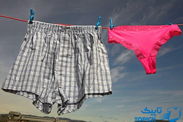 شستشویی لباس زیر مردانه و زنانه