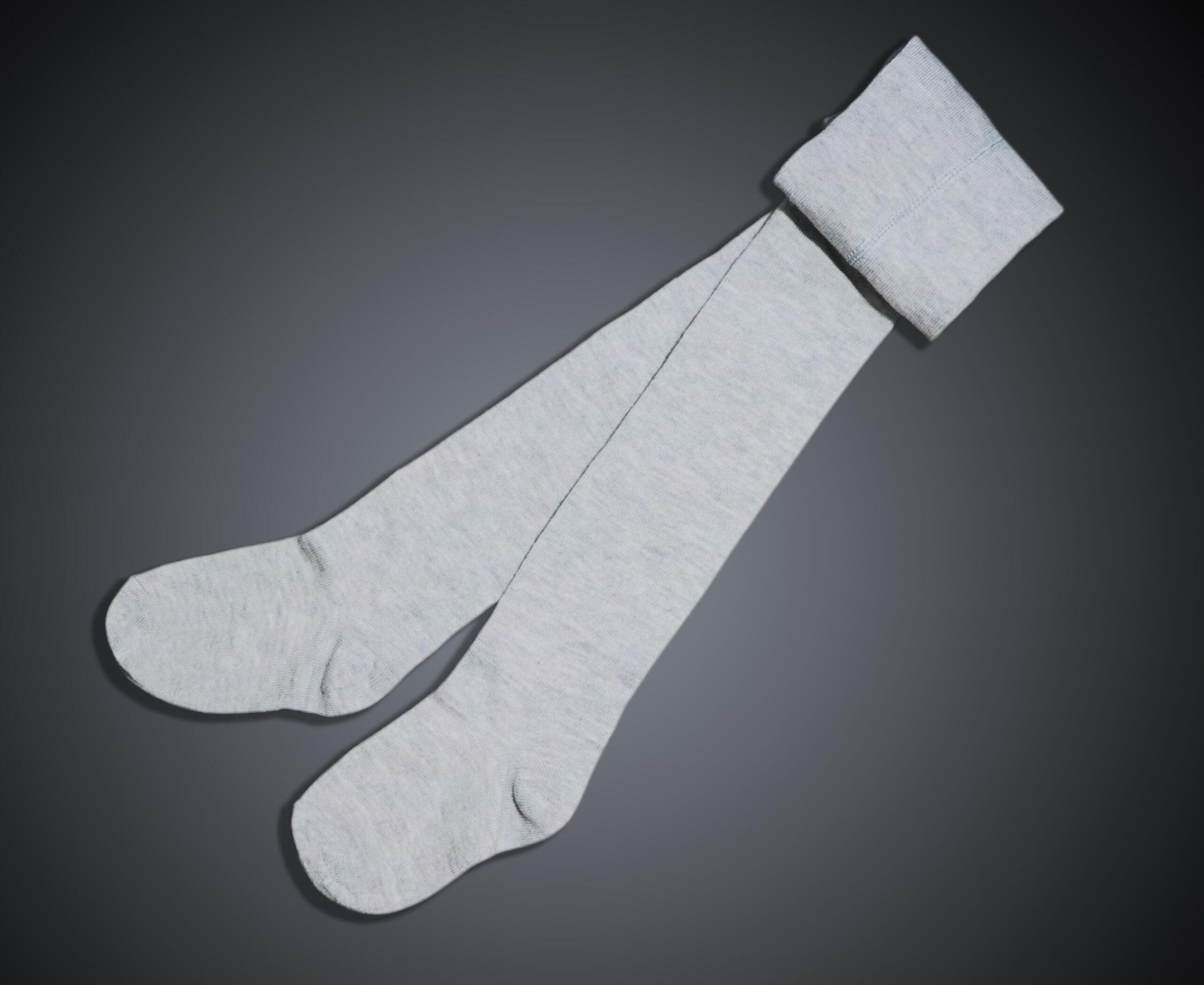 جوراب شلواری بچگانه ساده ملانژ